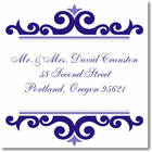 Name Doodles - Square Address Labels/Stickers (Norfolk Iris)